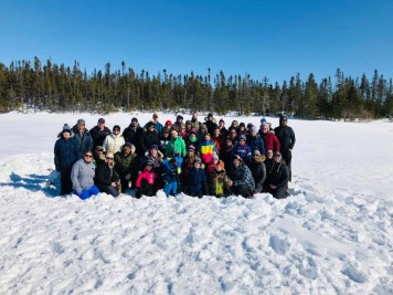 Group picture at Darby Lake. Photo by Darcie Jenny Rowsell.