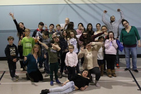 A silly picture of Harrington and Anticosti dance group. Photo by Helen Morency