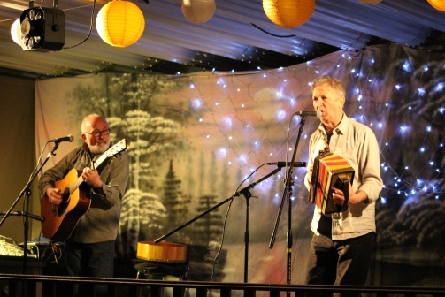 Jim and Fergus performing. Photo by Kelly Anderson-Lessard.
