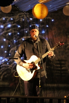 Mike performing. Photo by Kelly Anderson-Lessard.